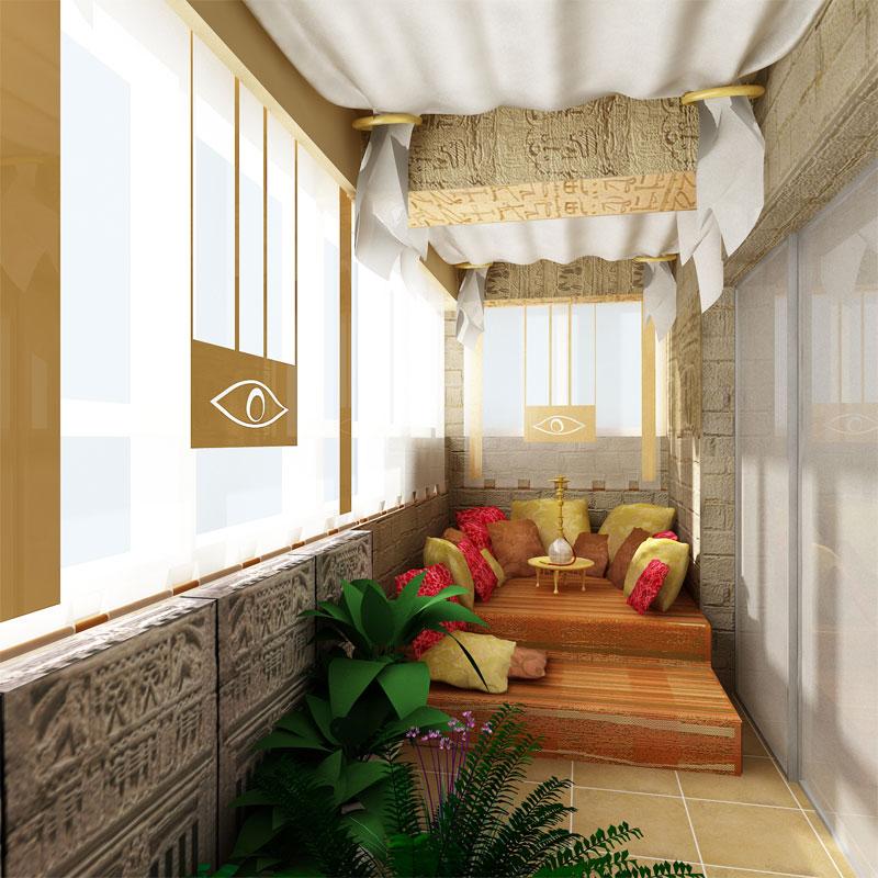 Оригинальный и функциональный дизайн балкона.