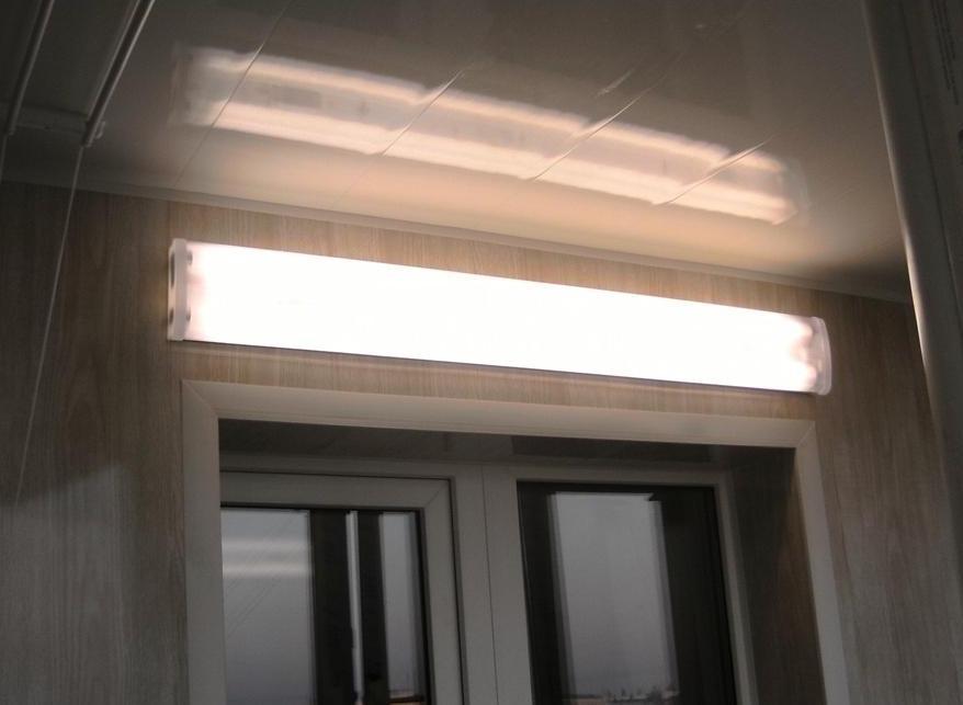 Диодное освещение на балконе..